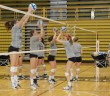 Lehigh's volleyball team practices at Grace hall on Oct. 17. The team is on the hunt for a spot in the Patriot League tournament. (Klaudia Jazwinska, B&W Staff)