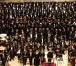 Lehigh University Choral Arts perform at Carnegie Hall in New York City on Nov. 21. Conductor-composer Steven Sametz led the Lehigh Choral Union, University Choir, Dolce and Glee Club in the performance. (Courtesy of Matthew Lee)