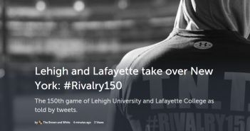 #Rivalry150 Storify