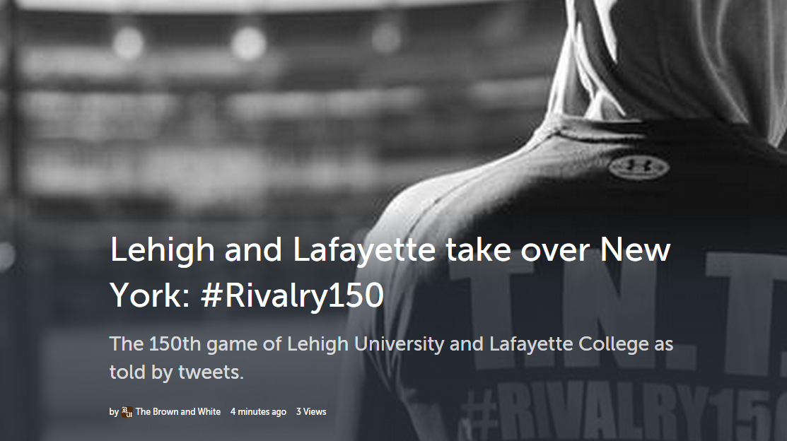 #Rivalry150 Storify