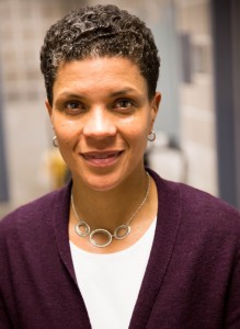 "Michelle Alexander gave a talk at Lehigh on Wednesday, January 28, 2015 about the issue of race and mass incarceration in the United States. Alexander is the writer of the nationally recognized book, ""The New Jim Crow"" which discusses the parallels between slavery, the Jim-Crow era, and today's mass incarceration system. (Chester Toye/B&W photo)"