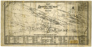 Map of Anthracite Coal Mines of Pennsylvania  from 1872