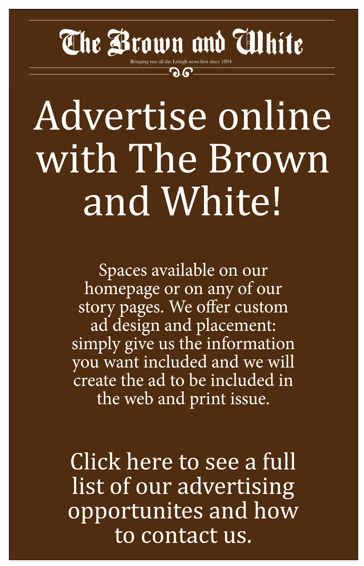 Brown and White Online
