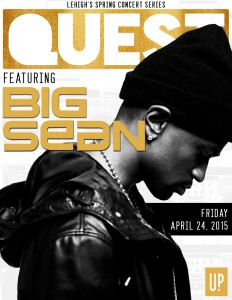 Rapper Big Sean will be performing at Lehigh on April 24, 2015, as part of University Productions' QUEST 2015 concert. (Courtesy of University Productions)