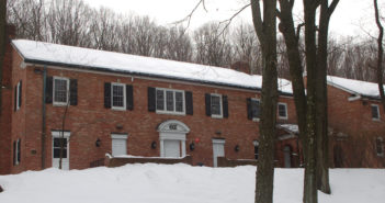 The Theta Xi chapter house pictured on Thursday, Jan. 29, 2015. The chapter has been placed on suspension after allegations of violations of the code of conduct. (Patrick Donnelly/B&W photo)