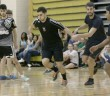 Michael Pires '17 participates in Kicks for CASA at Grace Hall co-hosted by Kappa Alpha Theta and Sigma Phi Epsilon on Sunday, March 22, 2015 . Kicks for CASA raised money for Court Appointed Special Advocates, Kappa Alpha Theta's philanthropy. (Toni Isreal/B&W photo)