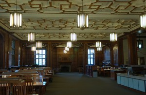 The Reading Room in Linderman Library.
