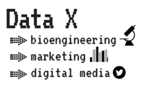 Data X strives to encourage interdisciplinary studies in areas such as bioengineering, marketing and digital media. (Samantha Tomaszewski/Made with Canva)