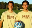 Freshman defender Oscar Greene and freshman midfielder Alex Greene have made positive contributions for the Lehigh men's soccer team. Oscar has started seven games this year, and his brother Alex has two goals. (Dallas Basha/B&W Photo)