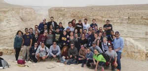 A birthright group visits Sde Boker in the Negev Desert which is known best for being the retirement home of Israel's first Prime Minister David Ben-Gurion. The trip consisted of Lehigh students, non lehigh students, tour guides, and Israeli soldiers. (Courtesy of Matt Kawa)