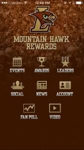 Screenshot of the Lehigh Athletics App