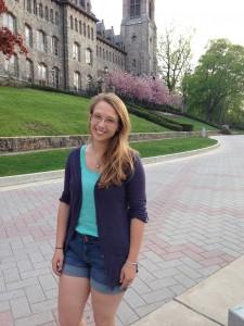 Olivia Conover this year, her senior year at Lehigh. (Gabrielle Pomerantz/B&W Photo)