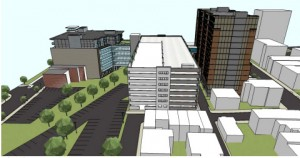 A rendering of one of the proposed parking plans. (Courtesy of the Bethlehem Parking Authority)