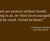 Editorial: United we kneel