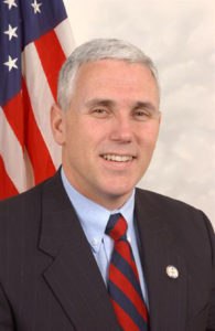 Republic Vice Presidential Nominee Mike Pence (Courtesy of Wikimedia Commons)