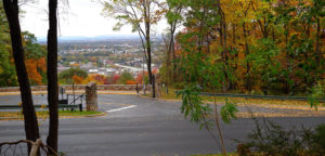 The Lehigh University gates to upper campus are open on Saturday, Oct. 22, 2016. Gates on the Hill are often closed on Friday and Saturday nights for pedestrian safety. (Tiancheng Ji/B&W Staff)