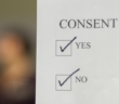 This photo is an artistic representation of the blurred lines of sexual consent in situations where individuals may feel pressured or obligated to say yes, even if they may not want to. Unwanted consensual sex is prevalent on college campuses. (Photo Illustration by Roshan Giyanani)