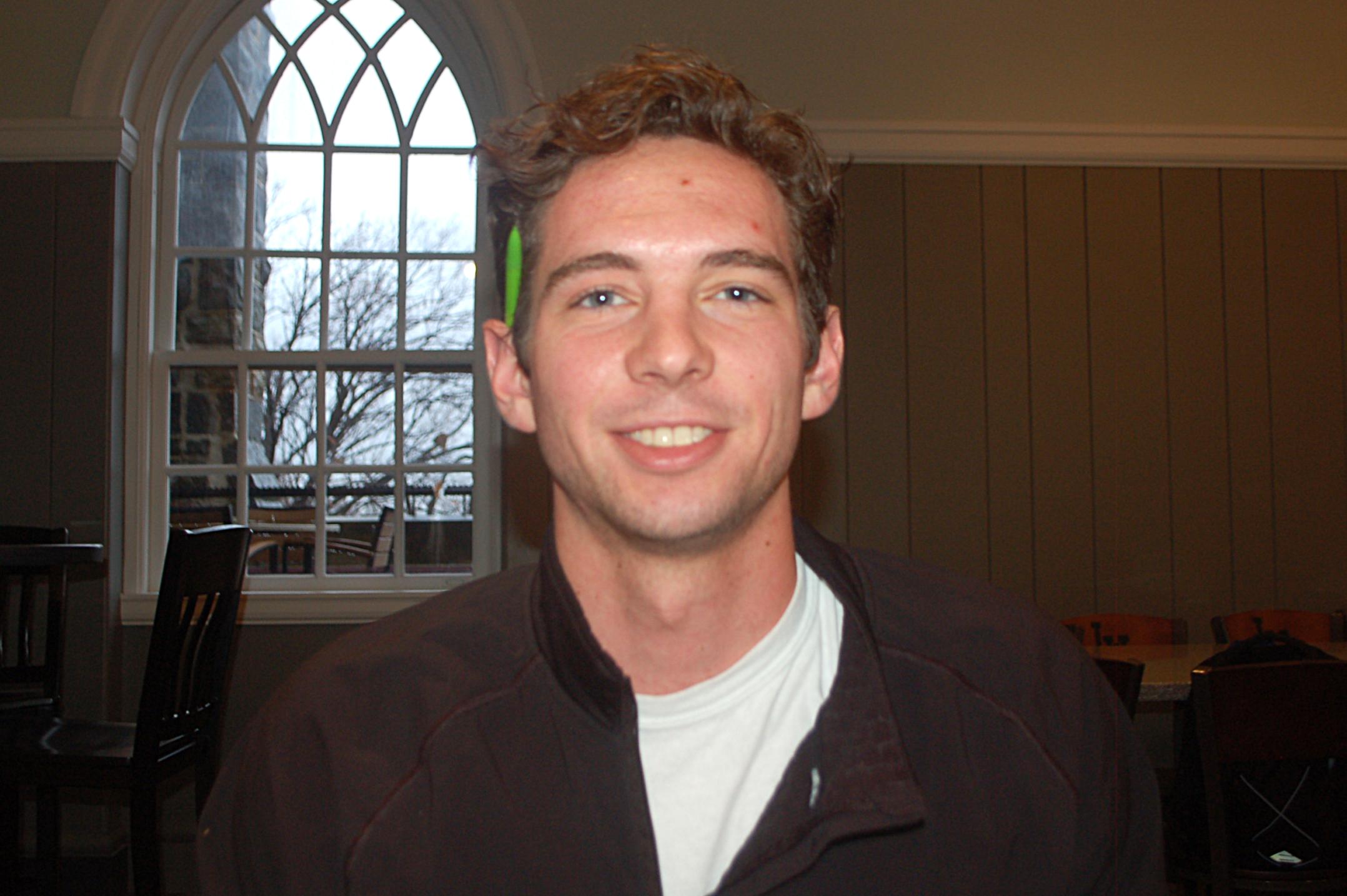 Adam Finke, '19 (Emily Linderman/B&W Staff)
