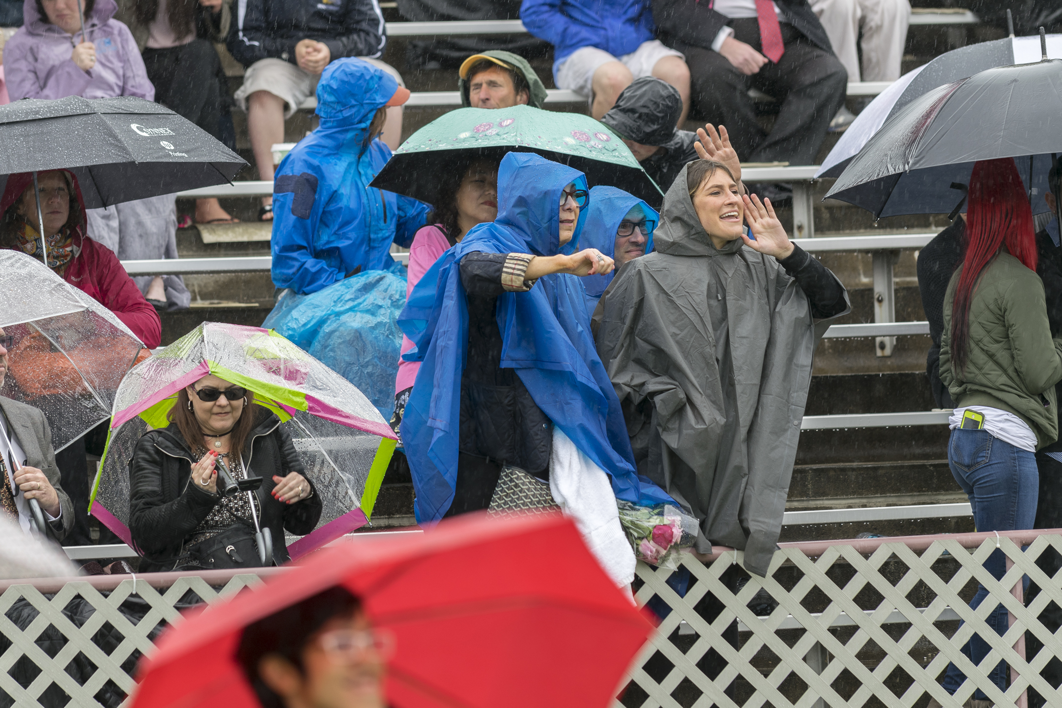 Visitors cheer on graduates Monday, May 22, 2017, in Goodman Stadium. Thousands of friends and family members packed the football stands to watch the 149th commencement ceremony. (Roshan Giyanani/B&W Staff)