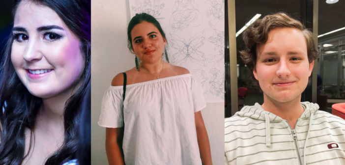 Ana Vargas, '20, Paola Lopez, '20, and Juan Moralejo, '20, are all Lehigh students from Central America. These three students discussed the challenges and excitements of being international students in the U.S. (Courtesy of Ana Vargas, Paola Lopez and Juan Moralejo)