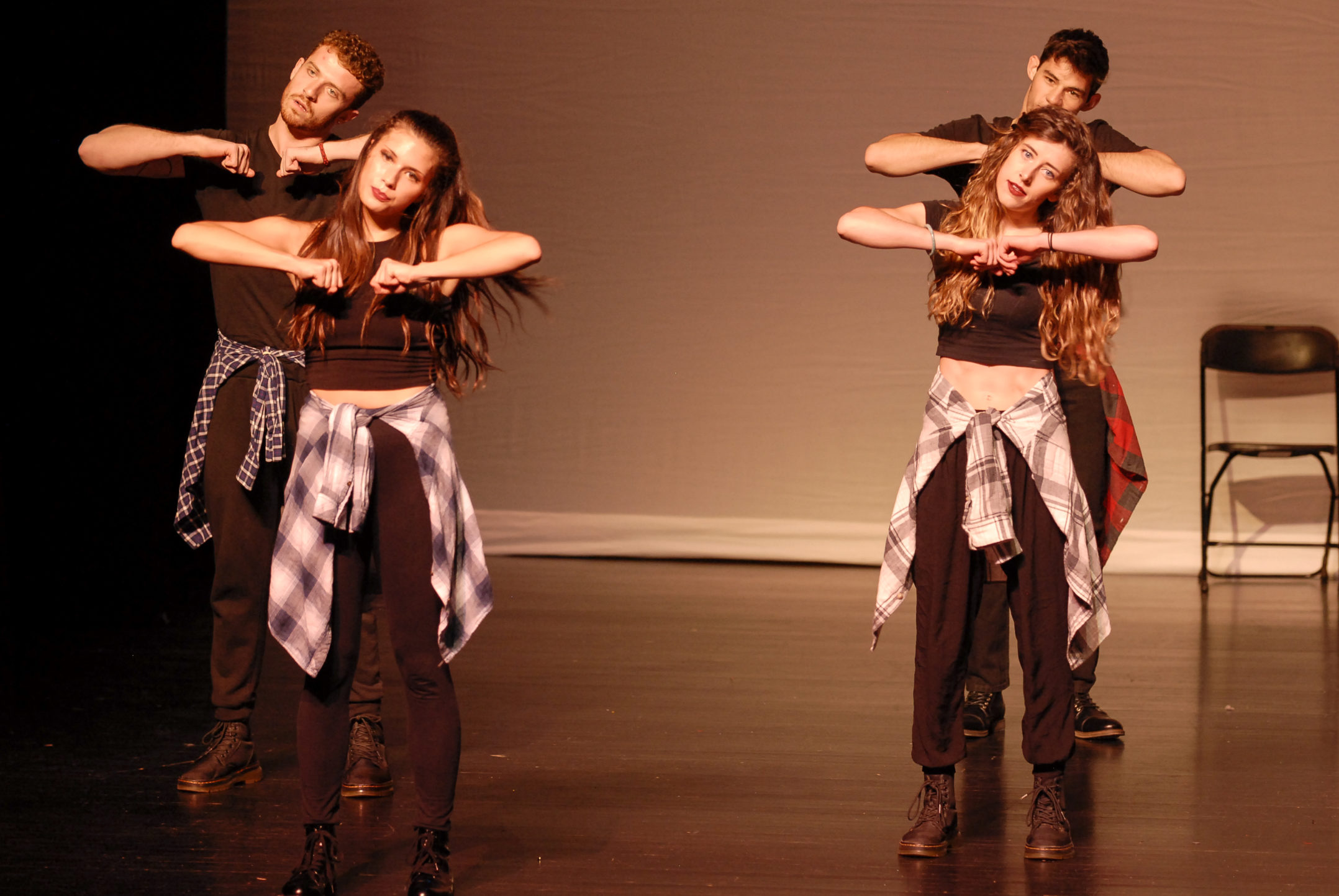 LU's Finest Step Team performs at FUSION on Thursday, Nov. 9, 2017, in Zoellner Arts Center. The Global Union helped fund FUSION as part of International Week. (Roshan Giyanani/B&W Staff)