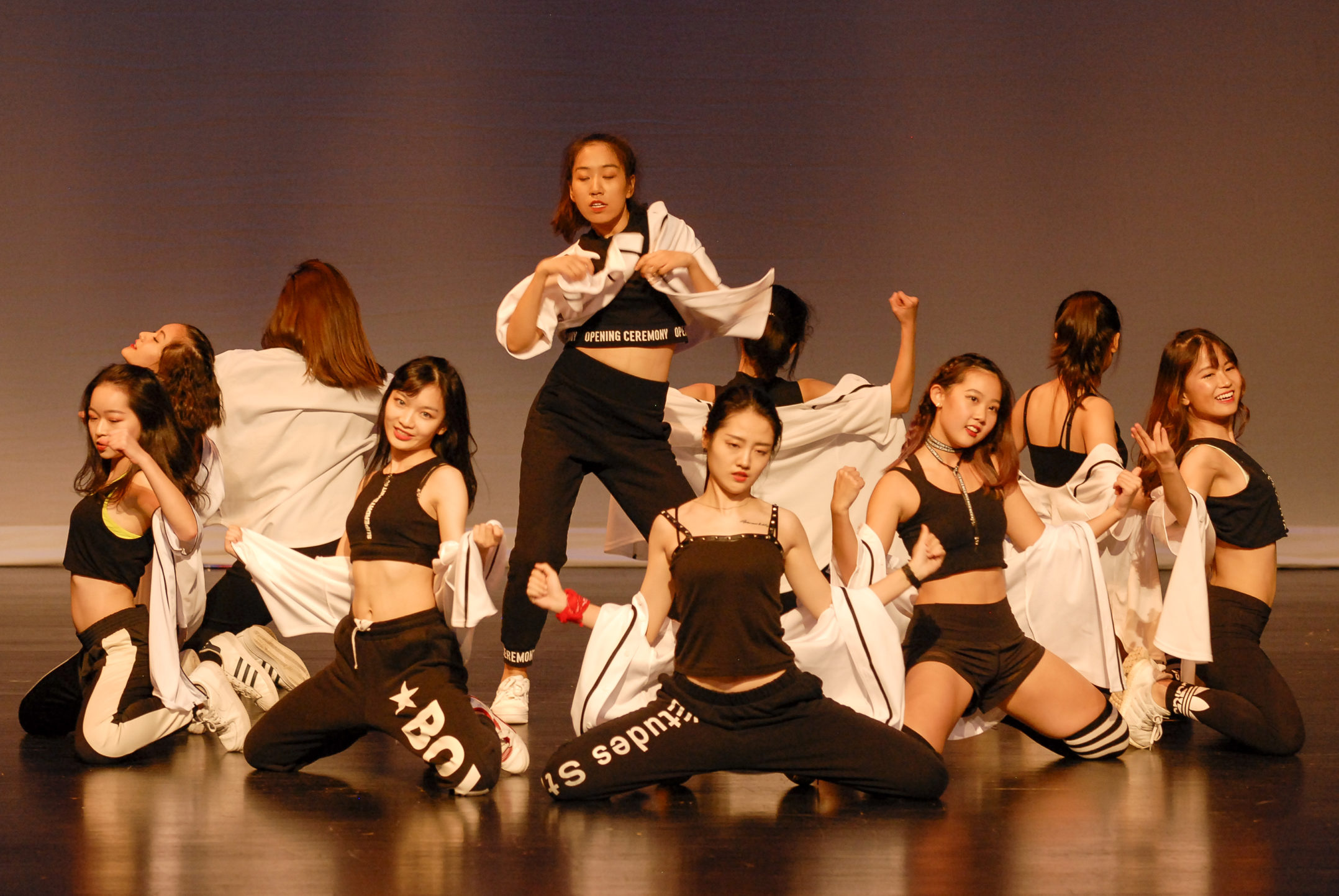 Members of Helius Dance Club perform at FUSION on Thursday, Nov. 9, 2017, in Zoellner Arts Center. Helius is a multicultural dance group that combines American and Asian hip-hop. (Roshan Giyanani/B&W Staff)