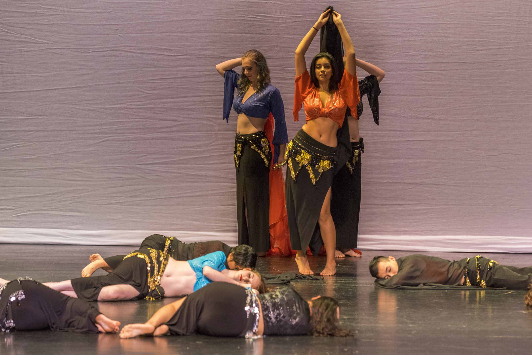 Members of Belly Dance perform during FUSION on Thursday Nov. 9, 2017, at Zoellner Arts Center. The multicultural event was the kickoff to Lehigh's annual International Week. (Roshan Giyanani/B&W Staff)