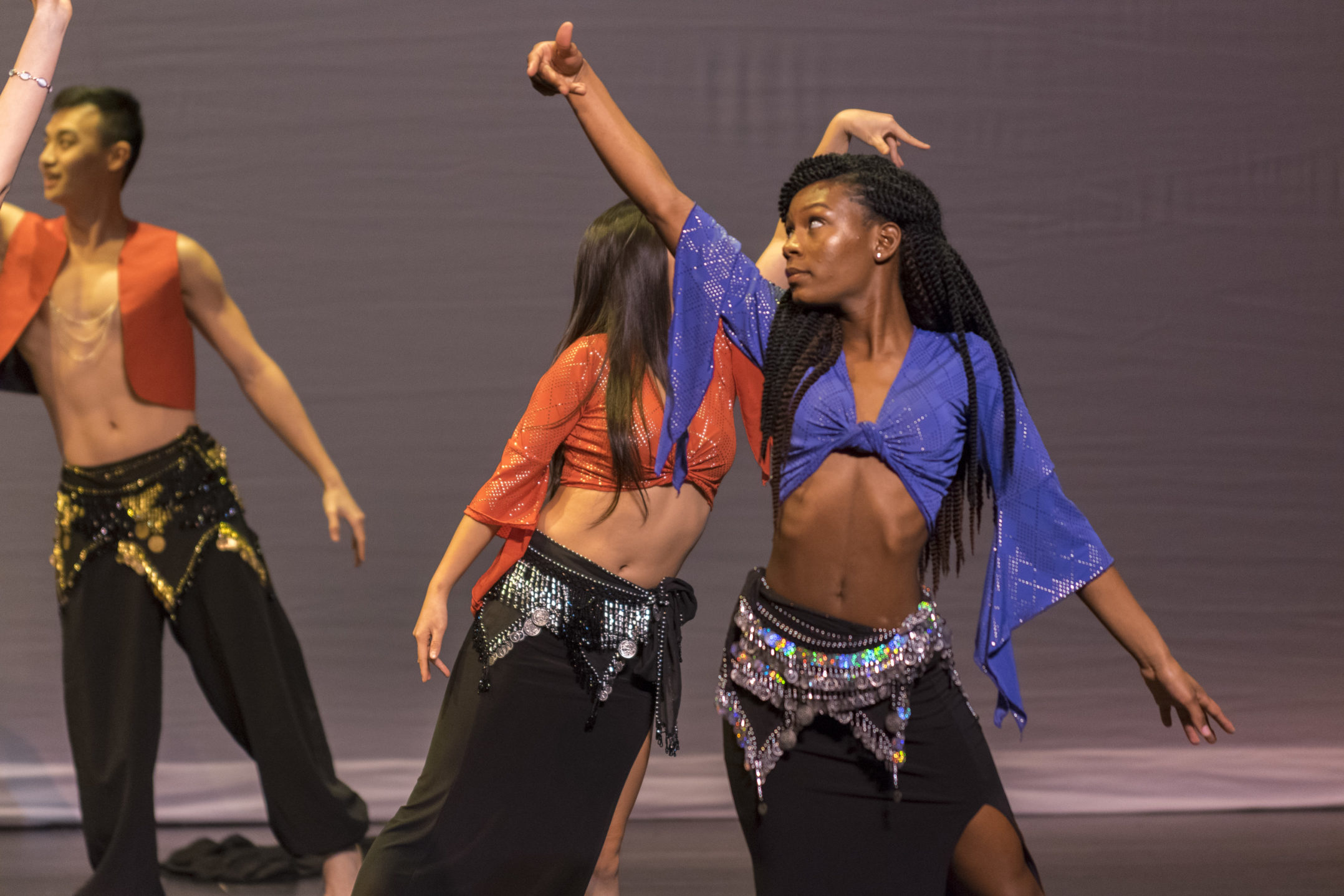 Zhané Jackson, '18, performs with Belly Dance on Thursday, Nov. 9, 2017, in Zoellner Arts Center. FUSION was open to the Lehigh and Bethlehem communities. (Roshan Giyanani/B&W Staff)