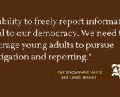 Editorial: #SaveStudentNewsrooms
