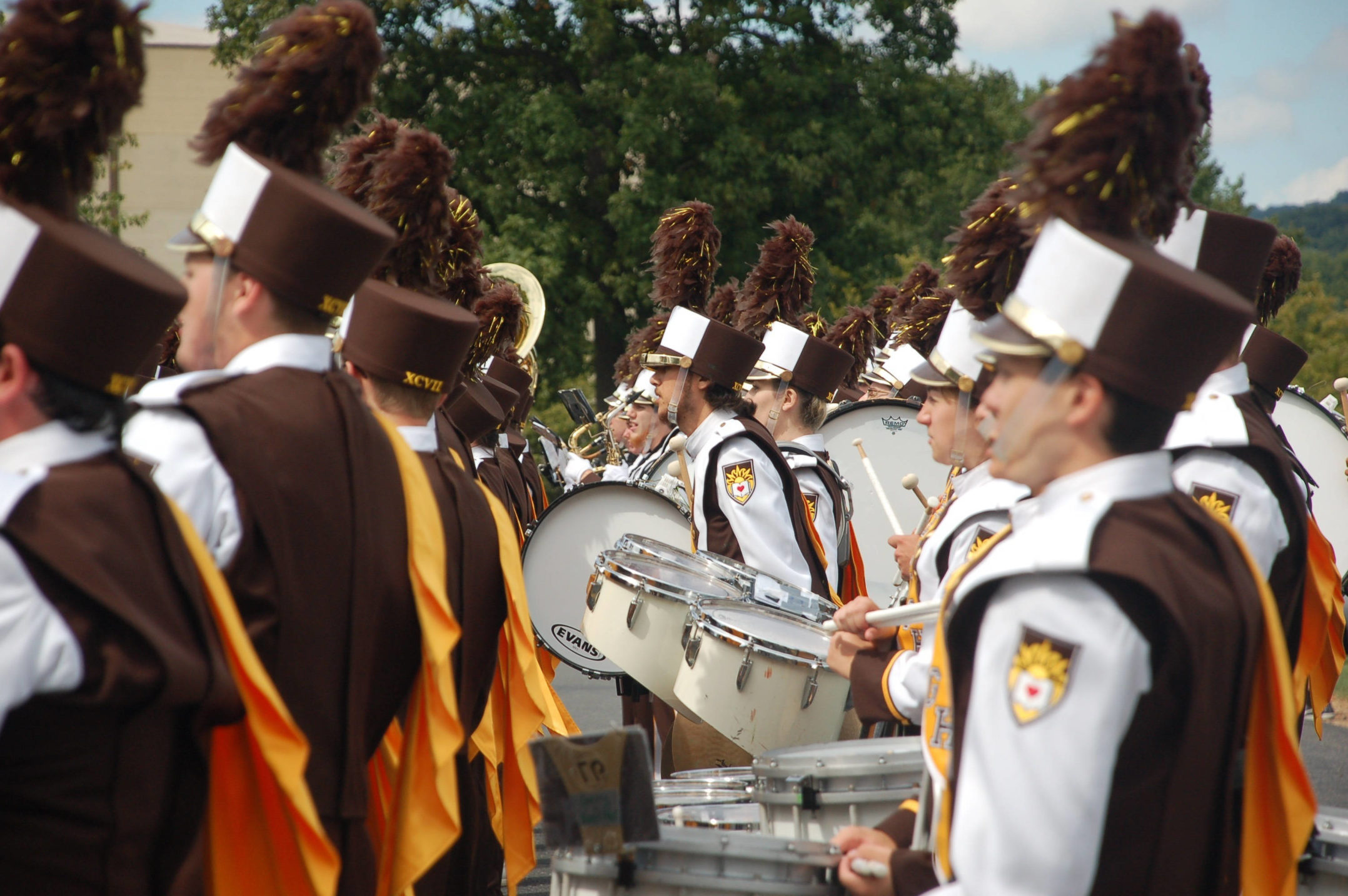 Marching 97 preps for biggest game of the season - The Brown and White
