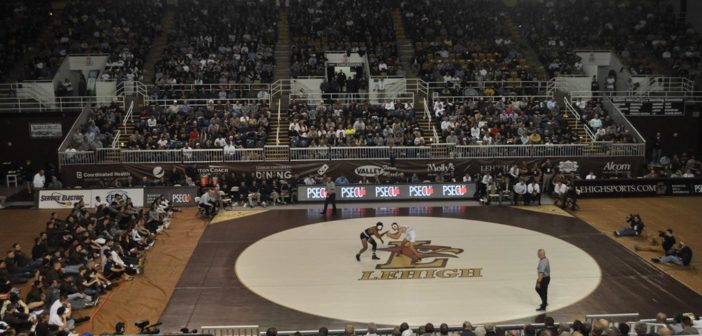 No. 13 Lehigh wrestling falls to No. 3 Penn State in front of record crowd