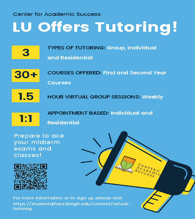 LU offers tutoring (click for more details)