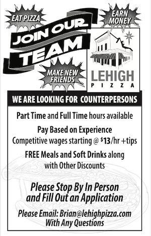 Join our team - Lehigh Pizza
